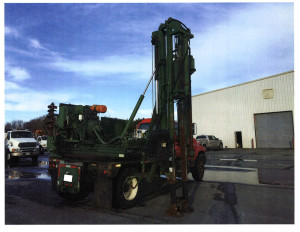 GRT Utilicorp Drop Hammer Guardrail Post Pounder Truck with auger