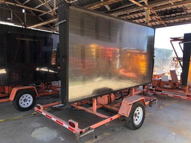 trailer mounted message board