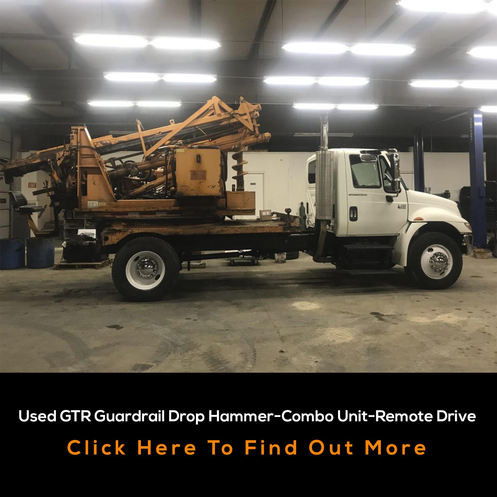 used grt guardrail drop hammer-combo unit-remote drive